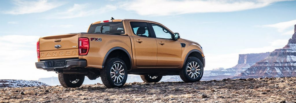 What are the color options for the 2019 Ford Ranger?